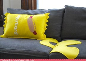 Mustard Spill Pillow