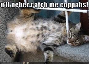 u'll neber catch me coppahs!