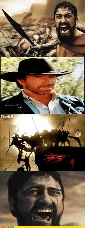 CHUCK NORRIS VS. LEONIDAS