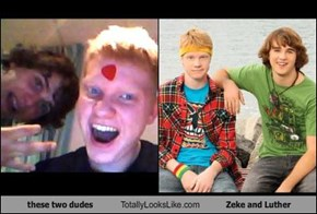 these two dudes Totally Looks Like Zeke and Luther