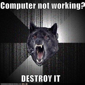 Computer not working?  DESTROY IT