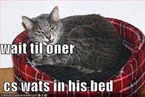wait til oner  cs wats in his bed