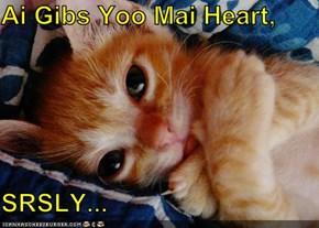 Ai Gibs Yoo Mai Heart,  SRSLY...