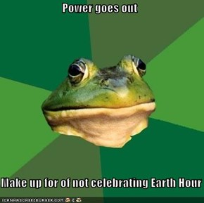 Power goes out  Make up for of not celebrating Earth Hour