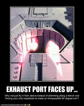 EXHAUST PORT FACES UP...