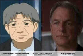"Detective from ""Black Rock Shooter Totally Looks Like Mark Harmon"
