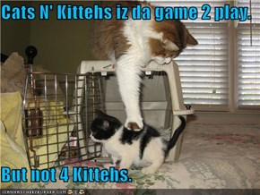 Cats N' Kittehs iz da game 2 play.  But not 4 Kittehs.