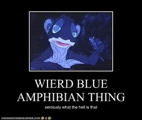 WIERD BLUE AMPHIBIAN THING