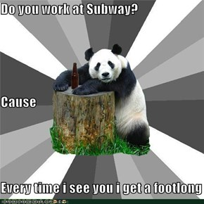 Bad Pickup Line Panda: Do you work at Subway?