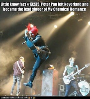 Gerard Way = Peter Pan