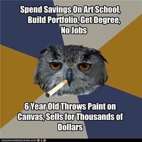Art Student Owl: Art School