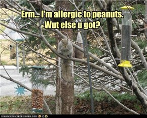 Erm... I'm allergic to peanuts.  Wut else u got?