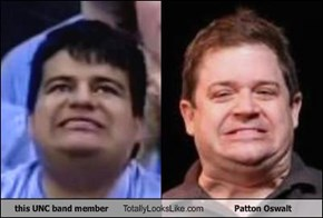 this UNC band member Totally Looks Like Patton Oswalt