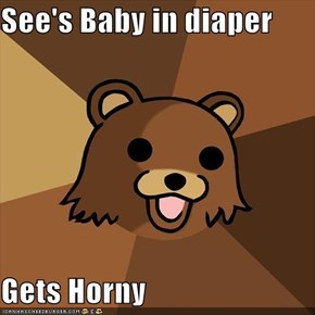 See's Baby in diaper  Gets Horny