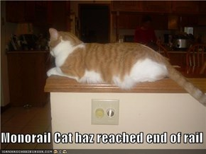 Monorail Cat haz reached end of rail