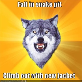 Courage Wolf: Fall in Snake Pit