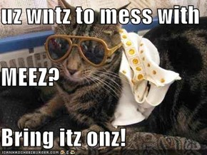 uz wntz to mess with MEEZ? Bring itz onz!
