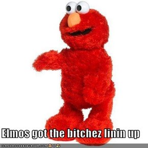 Elmos got the bitchez linin up