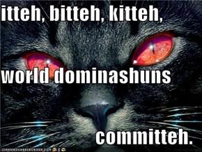 itteh, bitteh, kitteh, world dominashuns committeh.