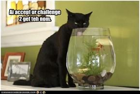 Ai accept ur challenge 2 get teh nom.