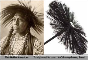 This Native American Totally Looks Like A Chimney-Sweep Brush