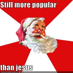 Still more popular  than jesus