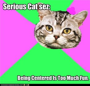 Serious Cat sez: