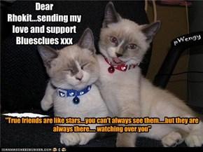 Dear Rhokit...sending my love and support Bluesclues xxx