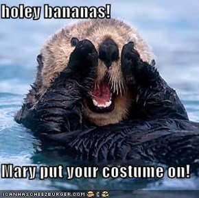 holey bananas!  Mary put your costume on!