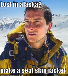 Lost in alaska?  make a seal skin jacket