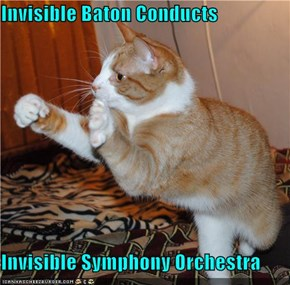 Invisible Baton Conducts  Invisible Symphony Orchestra