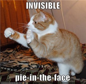 INVISIBLE    pie-in-the-face