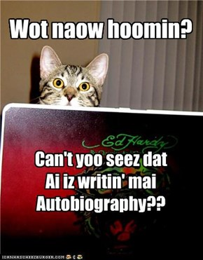 Please to not disturb Author Kitteh :| Fankooz :)