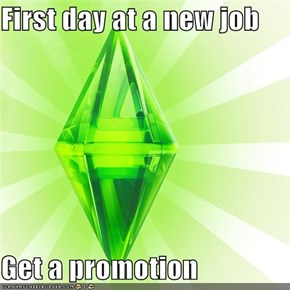 The Sims: First day at a new job