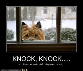 KNOCK, KNOCK.....