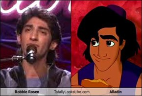 Robbie Rosen Totally Looks Like Alladin