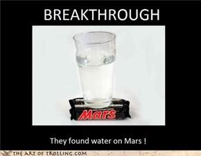 WATER ON MARS !!!
