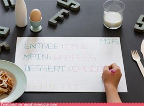 Customizable Menu Placemats