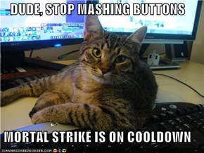 DUDE, STOP MASHING BUTTONS  MORTAL STRIKE IS ON COOLDOWN