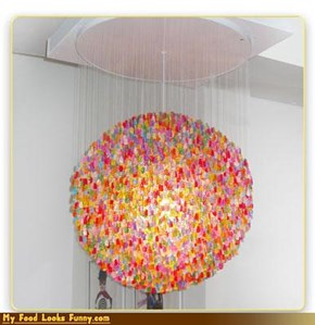 Gummy Bear Chandelier