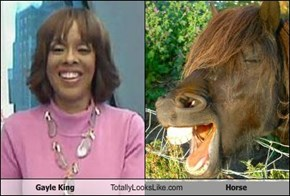 Gayle King Totally Looks Like Horse