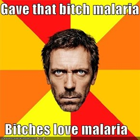Gave that bitch malaria  Bitches love malaria
