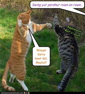 And this is why cats don't square dance...