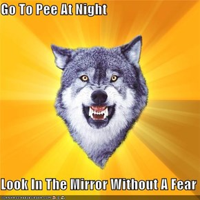 Go To Pee At Night  Look In The Mirror Without A Fear