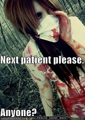 Next patient please. Anyone?