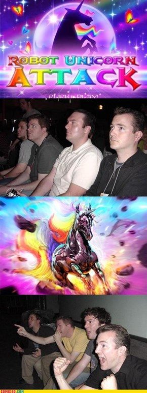 Reaction Guys on Robot Unicorn Attack