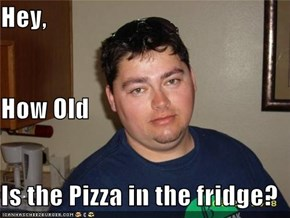 Hey, How Old Is the Pizza in the fridge?