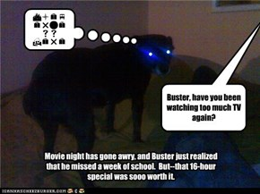 Buster, have you been watching too much TV again?