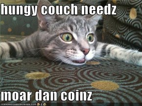 hungy couch needz   moar dan coinz