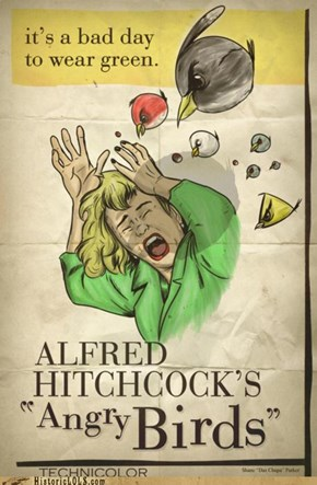 "Historic LOLs: Alfred Hitchcock's ""Angry Birds"""